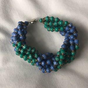 31 bits multi-strand beaded bracelet